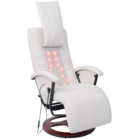 Scaun pentru masaj shiatsu alb