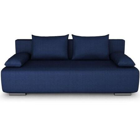 Canapea extensibila 3 locuri albastra